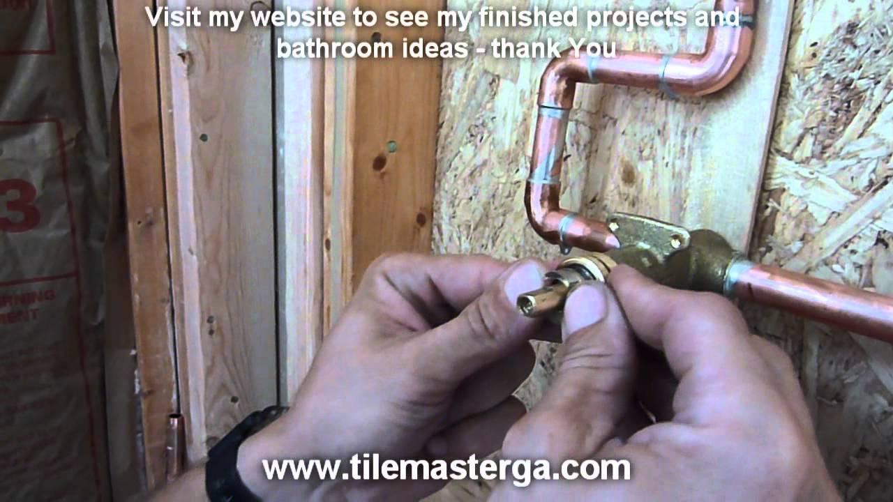 Part3 Shower Diverter  Transfer valve installation step by step  Moen Delta Kohler how to