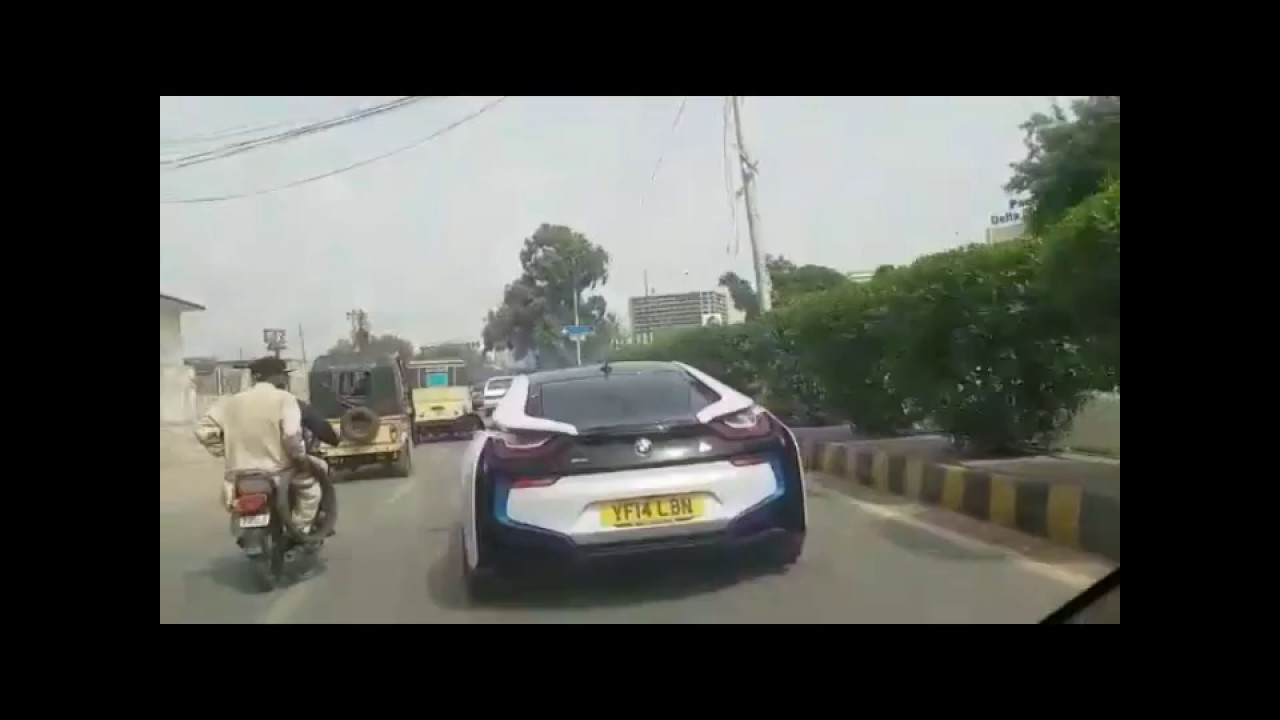 Bmw I8 Sports Car 2017 First Time In Karachi Pakistan Youtube