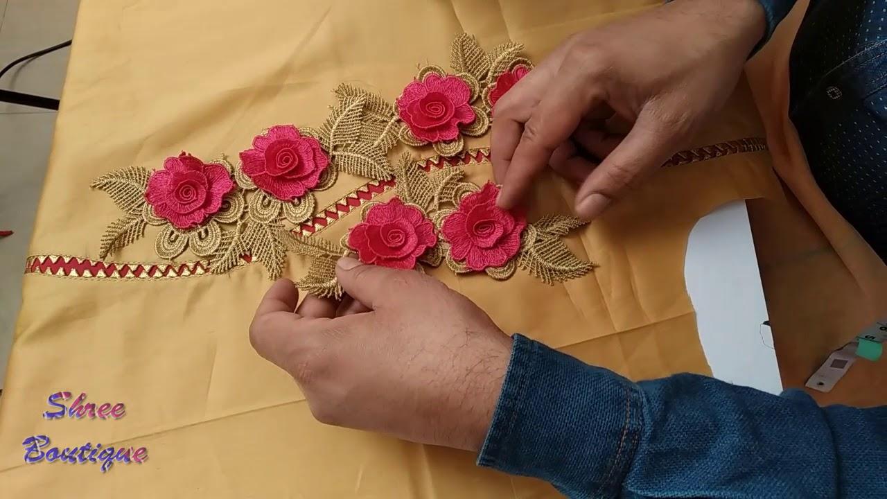 Image result for सिंपल सूटों पर Lace लगाने के शानदार तरीके