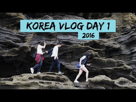 JEJU, KOREA VLOG 2016 | Day 1 | Osulloc Tea Museum, Yongmeori Beach & More