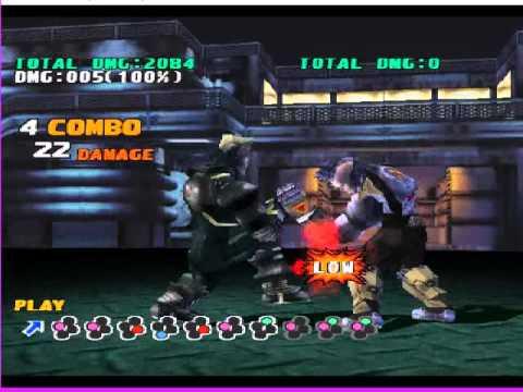 Tekken 3 Gun Jack Combos With Botton Key Youtube