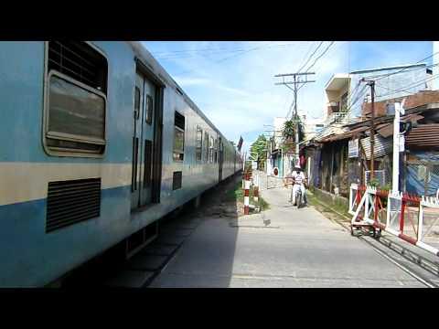 Danang City train crossing