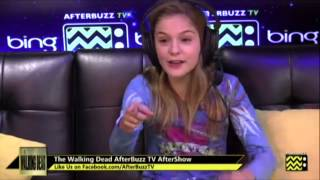 Brighton Sharbino (Walking Dead/True Detective) Interview Highlights | AfterBuzz TV