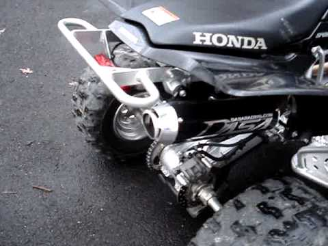 Honda TRX450R Exhaust Sound Comparison HMF vs  DASA