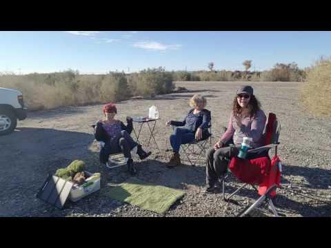 Van Life; By The Colorado River With Debrajoy & Caravan Carolyn