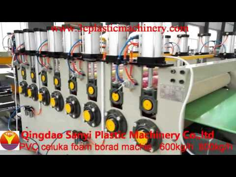 PVC foam board machine-QINGDAO SANYI PLASTIC MACHINERY