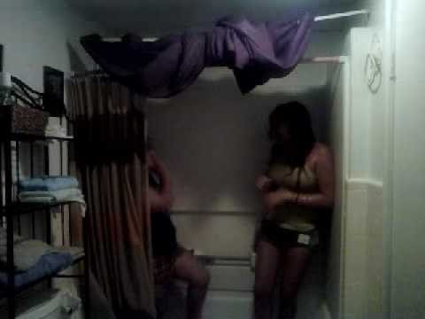 Takn A Shower W/Our Clothes On. Lol