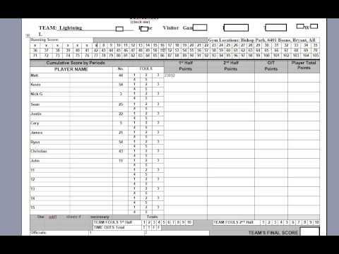 Keeping the Basketball Scorebook