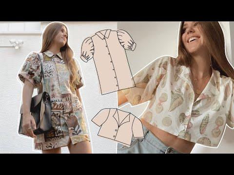DIY // Button Up Dress or Shirt (Self Drafting Process) - YouTube