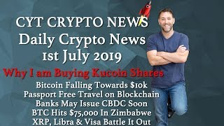 Why I Am Loading Up On Kucoin Shares - BTC Going Down To $10k - Passports On Blockchain