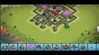 Diseño de ayuntamiento 7 para farming (clash of clans)