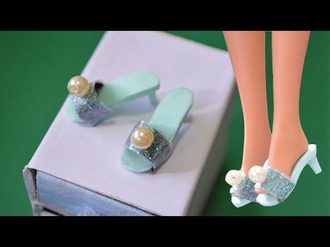 ❤สอนทำของจิ๋ว❤รองเท้าบาร์บี้(DIY Miniature Shoes)