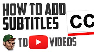 How To Add Subtitles To YouTube Videos 2016! (Faster)