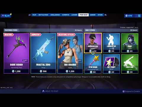 NEW ITEM SHOP AUGUST 7 2019 - FORTNITE BATTLE ROYALE