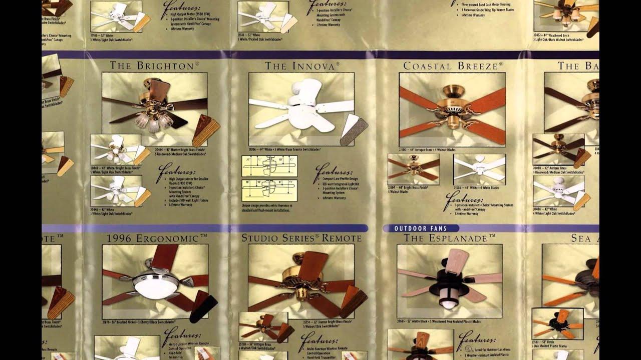 Hunter Ceiling Fan Catalog From 2000