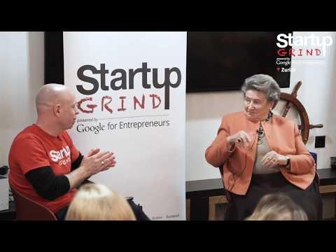 Rosmarie Michel at Startup Grind Zurich, w/ David Butler