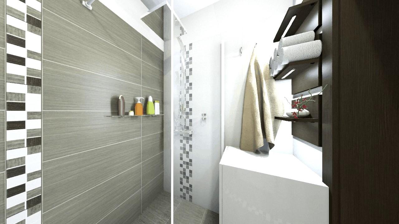Téglalap alakú fürdőszoba zuhanykabinnal 0 4 m2 - YouTube