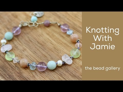 Knotting with Jamie at The Bead Gallery, Honolulu