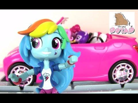 Эквестрия Герлз Украшают и Моют Машину Барби В Автомойке!!! Май Литл Пони Мультик с Игрушками