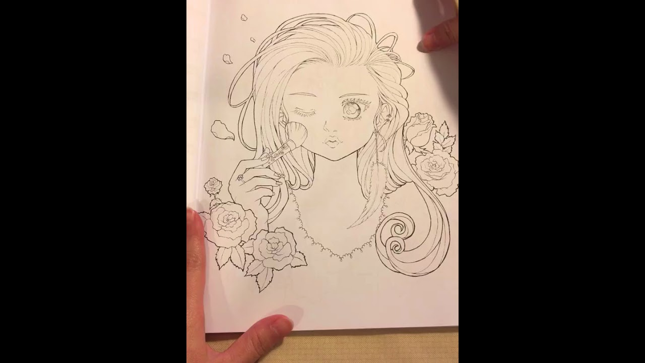 Flip through of my coloring book love in anime world