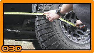 Measuring Thrust Angle and Rear Axle Square Alignment 2015 Jeep Wrangler JK / JKU