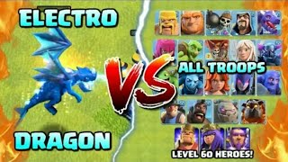 ELECTRO DRAGON Vs All Max Lvl Troops! Clash of Clans NEW TROOP! Electro Dragon Attacks!