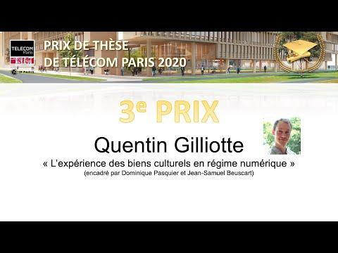 Prix de thèse 2020 de Télécom Paris. 3e prix : Quentin Gilliotte