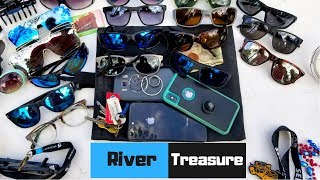 River Treasure Diving: iPhones, Galaxy S8 Active, Rings, Sunglasses & Cash Found Hunting Underwater