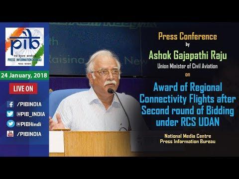 Union Minister Ashok Gajapathi Raju briefs media on Award of Regional Connectivity Flights - UDAN