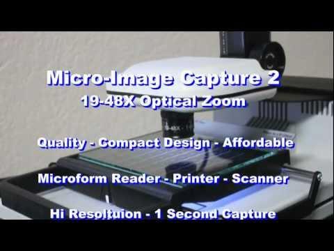 Micro-Image Capture 2 Digital Microfilm & Microfiche Scanner 19-48X