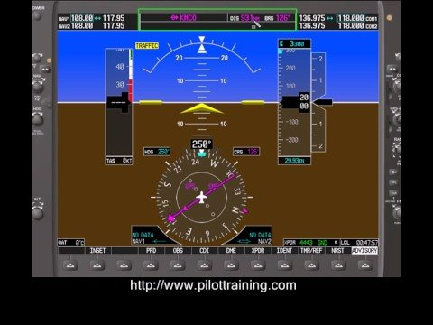 Garmin Gps Watch >> G1000 Primary Flight Display Overview - YouTube