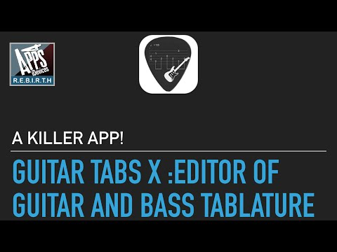 Guitar Tabs X : Editor of Guitar and Bass Tablature