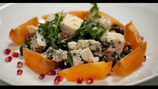 Салат из хурмы и рокфора | 7 нот вегетарианской кухни