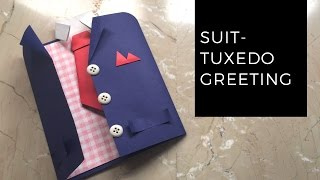 DIY Suit-Tuxedo Greeting Card Tutorial | How To Make Greetings | How To Craft - Anushree's Craft TV