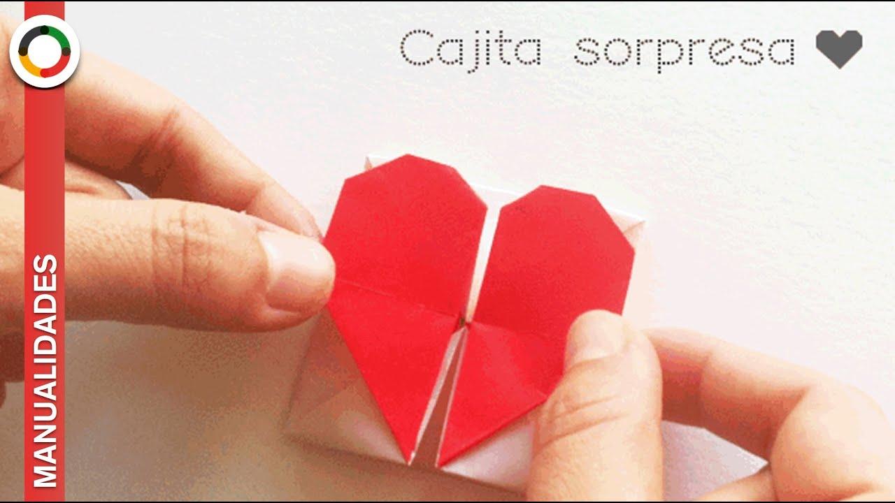 Frases De Amor Es Con Corazon: Corazón De Papel Y Cajita ♥ Para Guardar Mensajes Bonitos