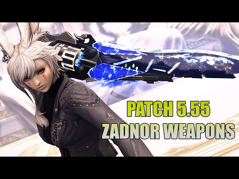 FFXIV Patch 5.55 Zadnor Weapons   Relic Weapons