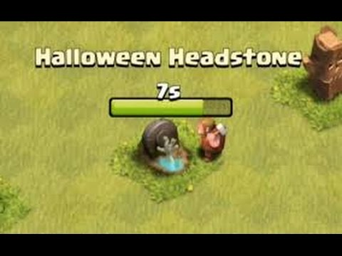 Clash Of Clans Opening Tombstone After Halloween