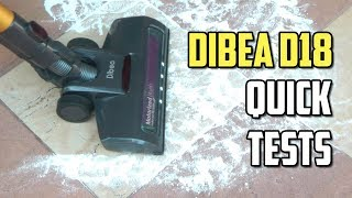 Dibea D18 Quick Tests - Budget Dyson V8, V10 Clone?