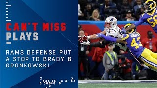 Rams Defense Shuts Down BradyGronk on 4th Down Super Bowl LIII Can t Miss Play