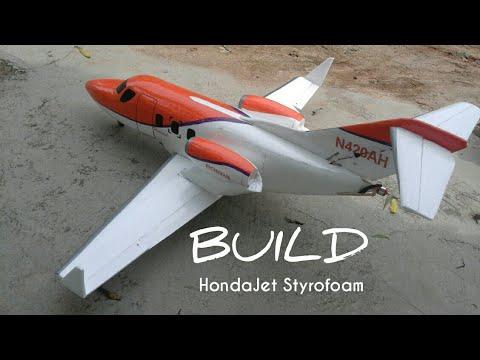 Membuat RC HONDA Jet gabus/Styrofoam BUILD VIDEO