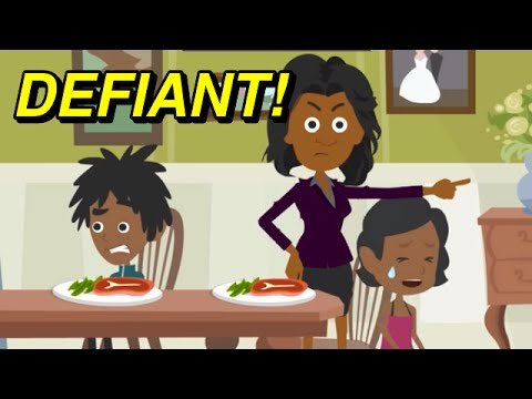 "Learn English Vocabulary: Defiant ""I HATE VEGETABLES!"" (Funny Cartoons For Kids)"