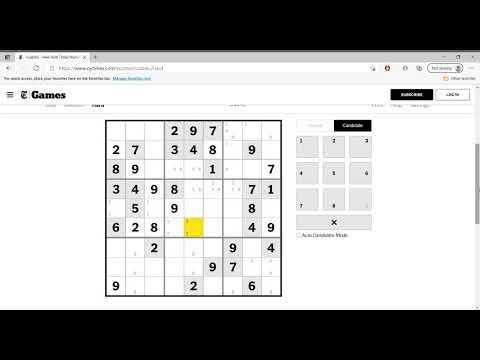 Hard Sudoku New York Times April 4