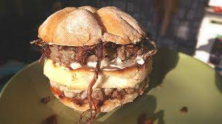 Двойной домашний бургер для любителей сытно поесть