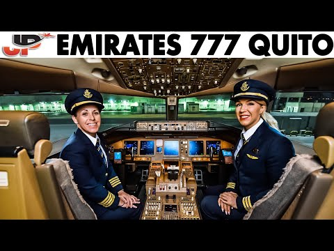 Emirates Women Pilot Boeing 777 into Quito | Cockpit Views