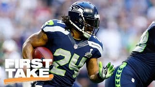 Should Seahawks Allow Marshawn Lynch To Sign With Pats? | First Take | April 11, 2017