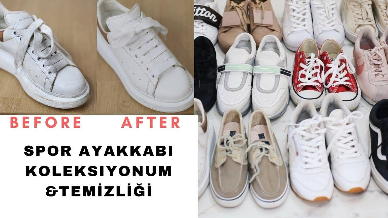 Beyaz Ayakkabılarımı Nasıl Temizliyorum?SPOR AYAKKABI KOLEKSİYONUM