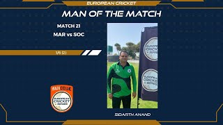 Miserly spell from Sidharth Anand seals Marsa win in Malta