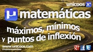 Maximos minimos y puntos de inflexion BACHILLERATO matematicas