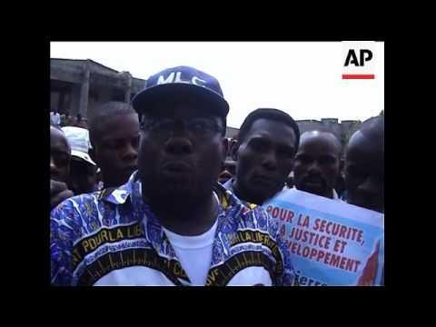 Demonstrations against Belgium following arrest of Bemba