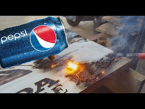 Wood Burning with Electricity and Pepsi! Handheld Router Projects